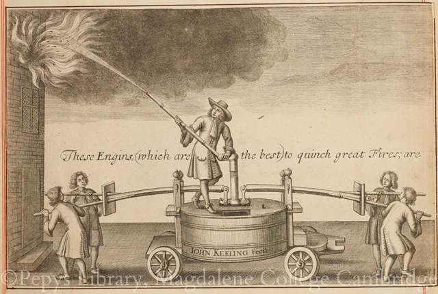 An Engin to quinch great Fires, attributed to William Faithorne.
