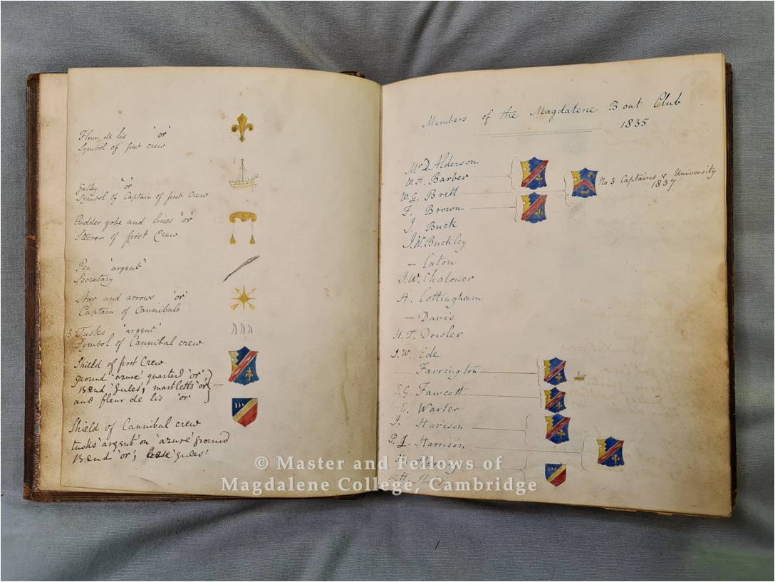 MBC Virtual Exhibition, Item one: Secretary's book, Magdalene College Archives G/1/1, ff. 2v-3r