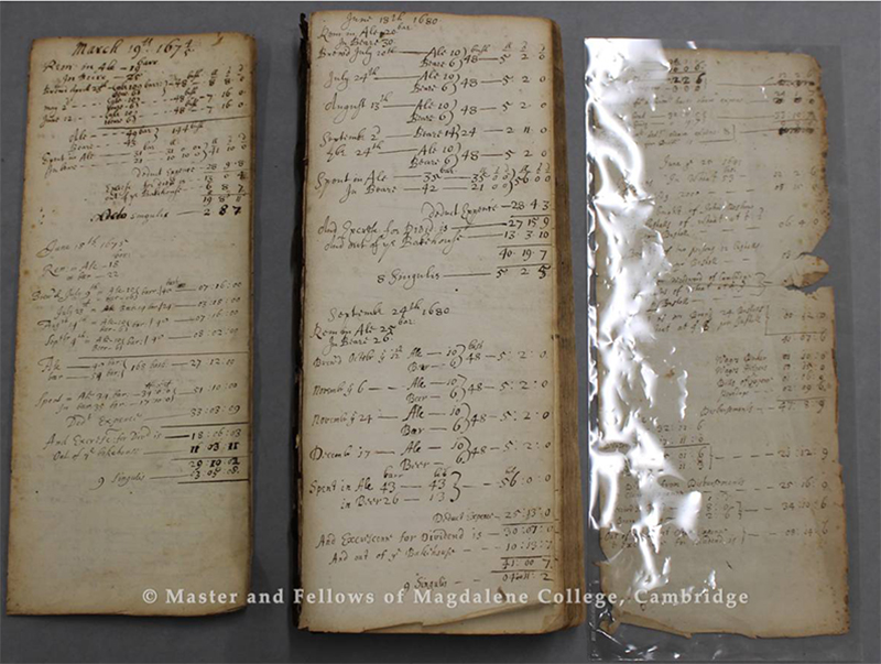 Provision Accounts, 1674-1776, College Archives