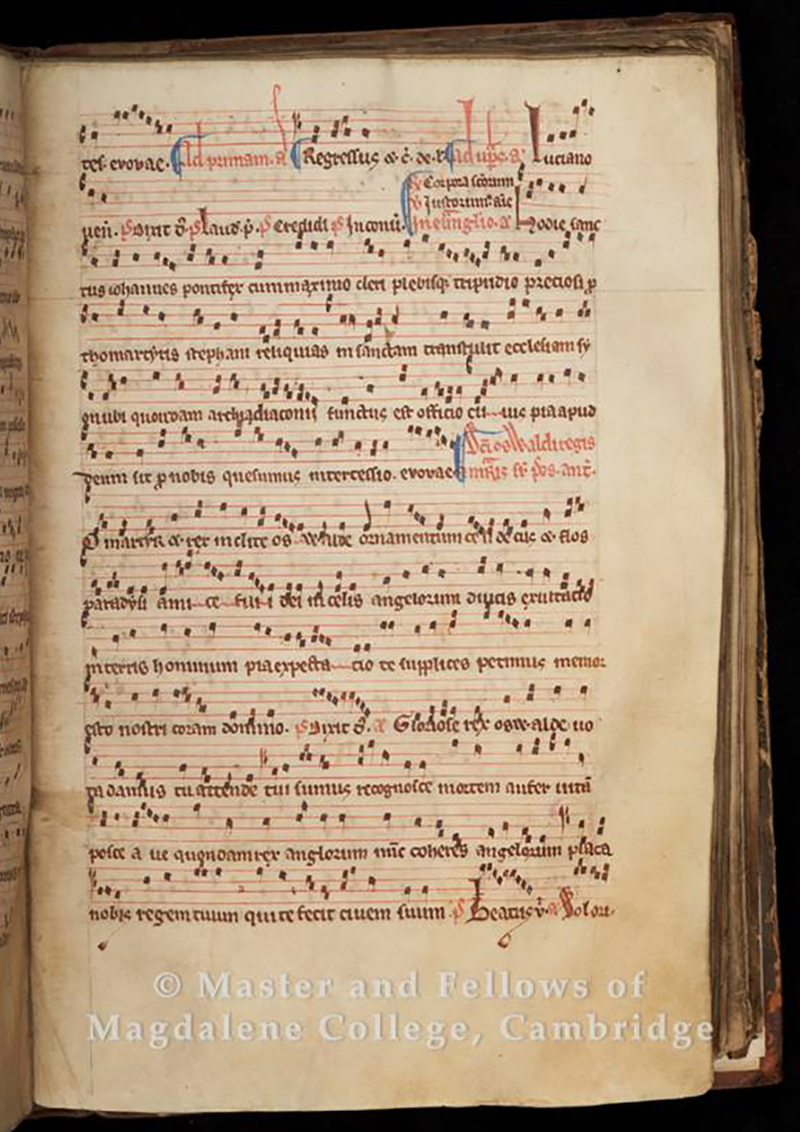 The Peterborough Antiphoner, 14th-15th century (Old Library)