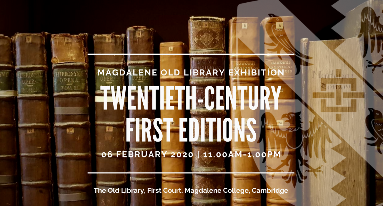 Old Library Exhibition; Twentieth-Century First Editions