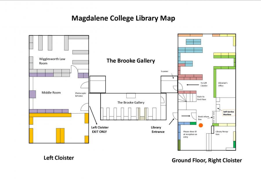 Magdalene College Library Ground Floor