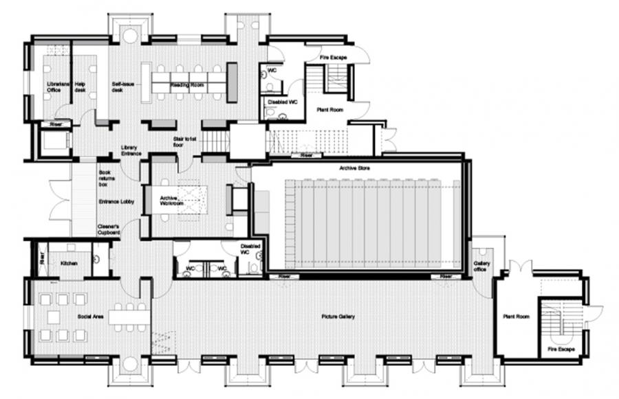 Library Ground Floor Plan