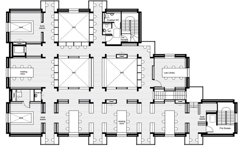Library Second Floor Plan