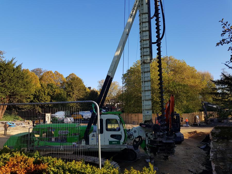 Arrival of piling rig