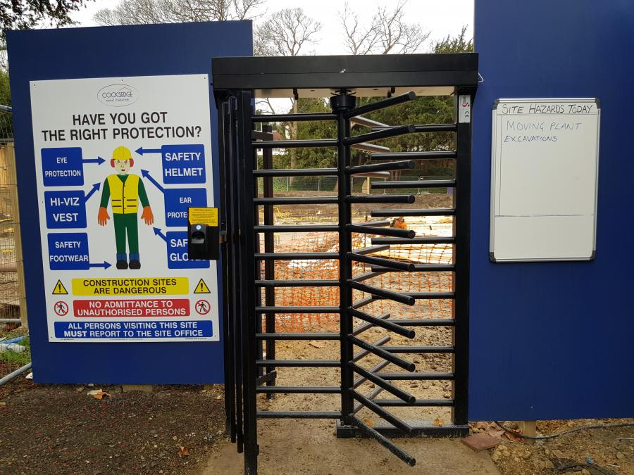 Magdalene Library Build Site Security Gate