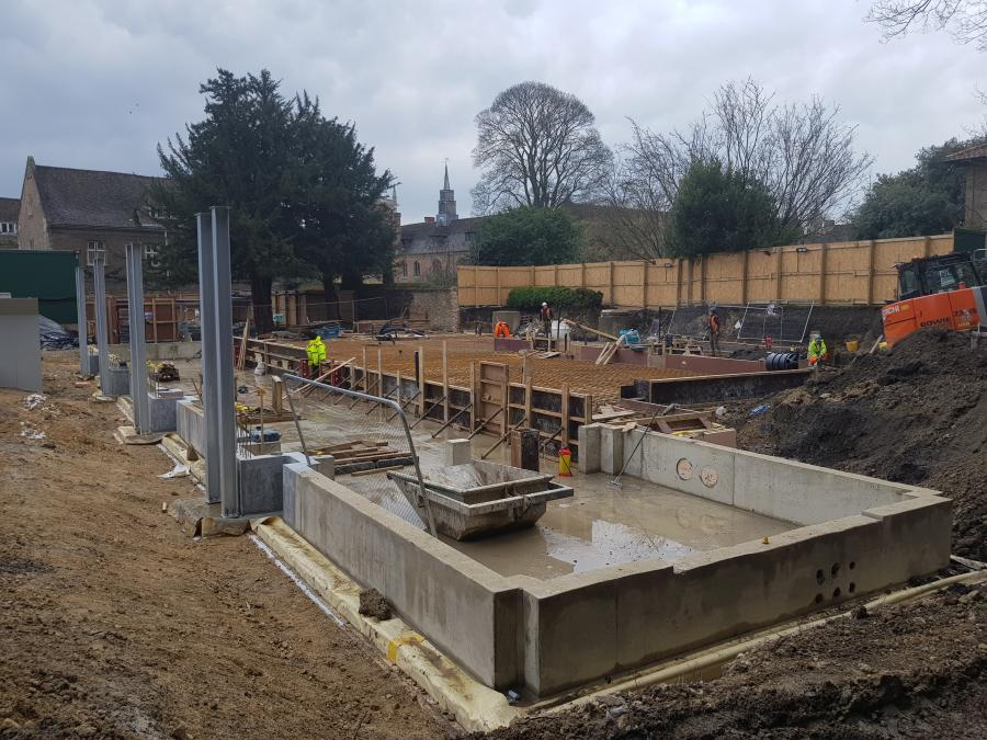 Magdalene College Library Building Construction Structural Steel Feb 2019