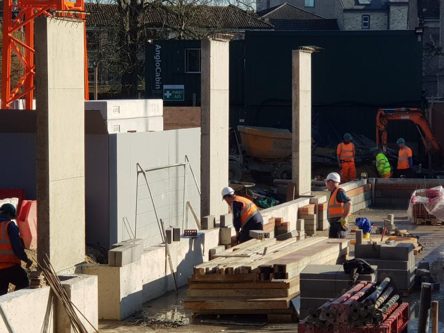 Magdalene Library Building Concrete Support Pillars