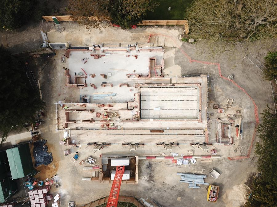 Magdalene Vollege New Building Construction Drone April 2019 1