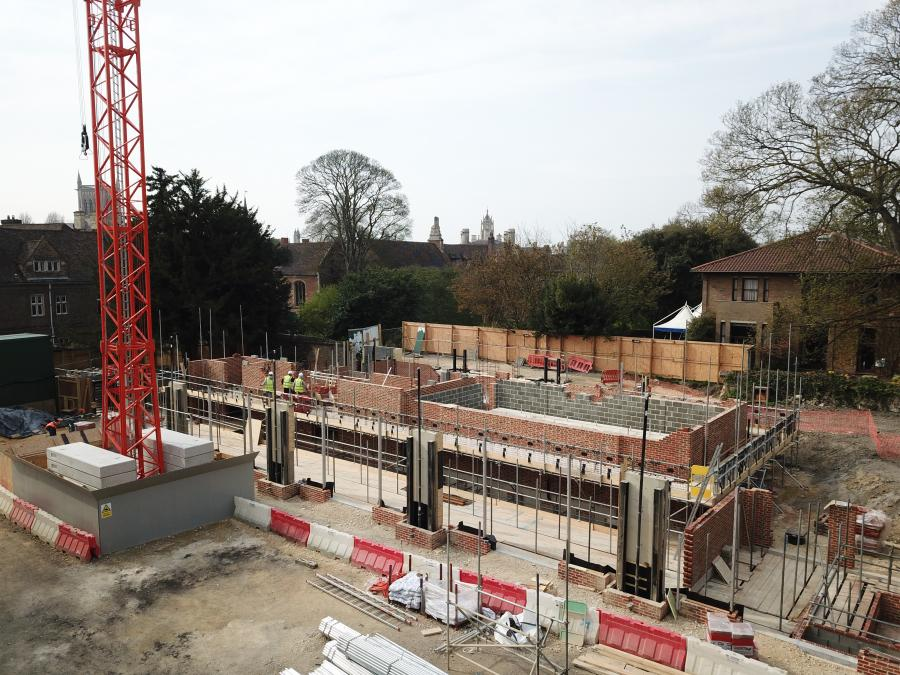 Magdalene Vollege New Building Construction Drone April 2019 2