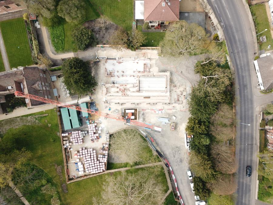 Magdalene Vollege New Building Construction Drone April 2019 4