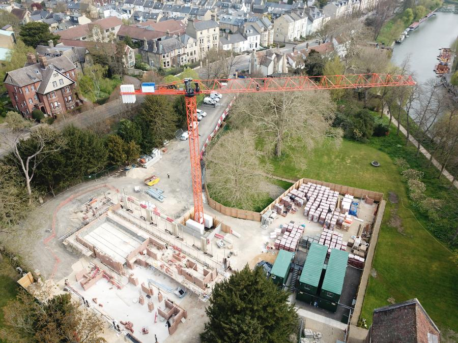 Magdalene Vollege New Building Construction Drone April 2019 5