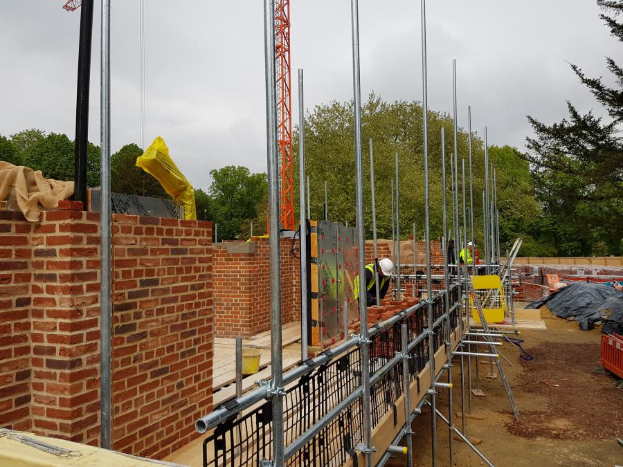Magdalene Library Build Second Floor Brickwork May 2019