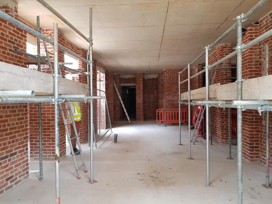 Magdalene Library Build Indide the Entrance Hall July 2019