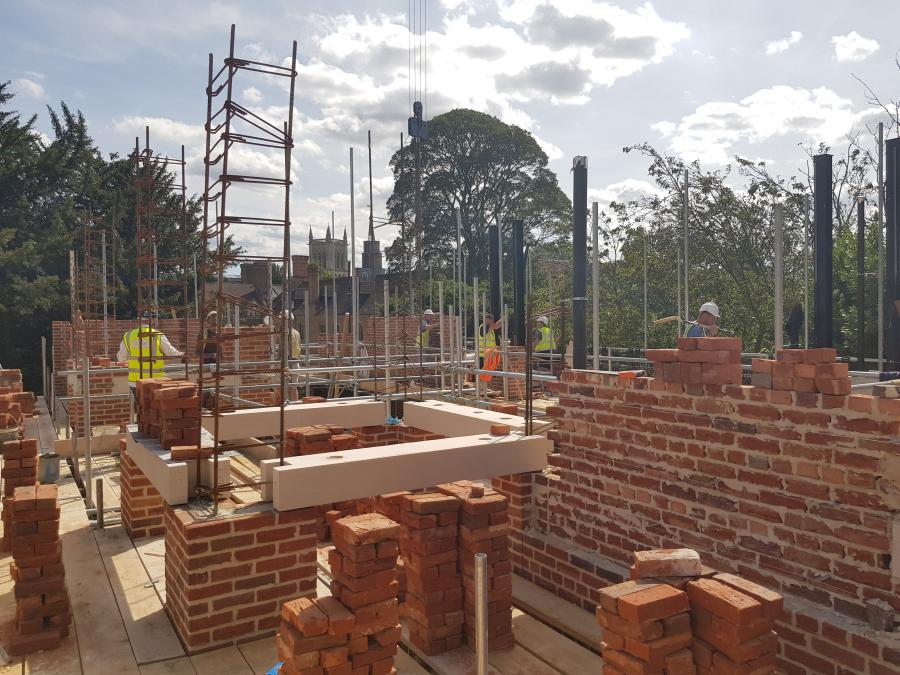 Magdalene Library Build August 2019 4 First Floor Brickwork