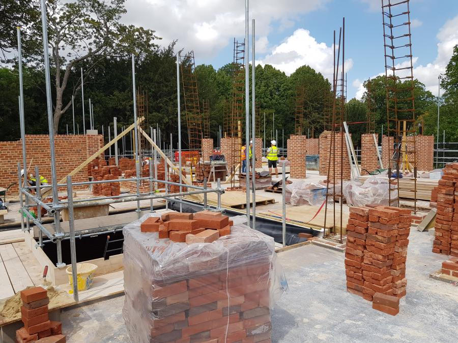 Magdalene Library Build August 2019 First Floor Brickwork 11