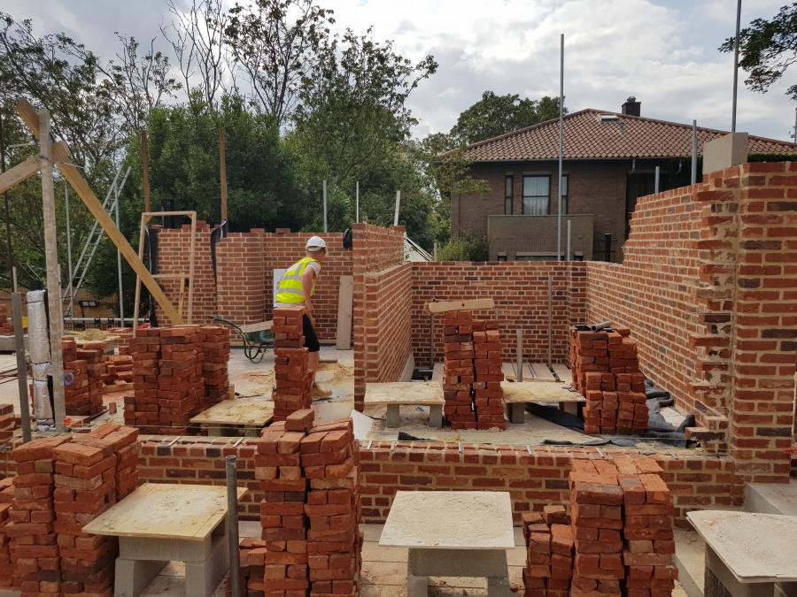 Magdalene Library Build August 2019 First Floor Brickwork 12