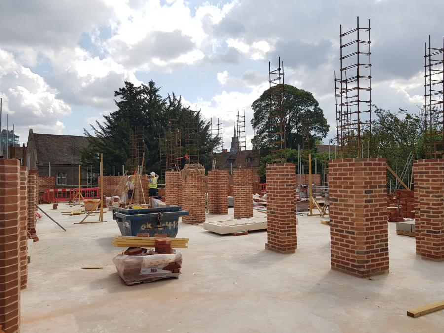 Magdalene Library Build August 2019 First Floor Brickwork 3