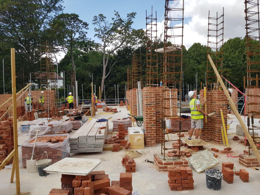 Magdalene Library Build August 2019 First Floor Brickwork 6