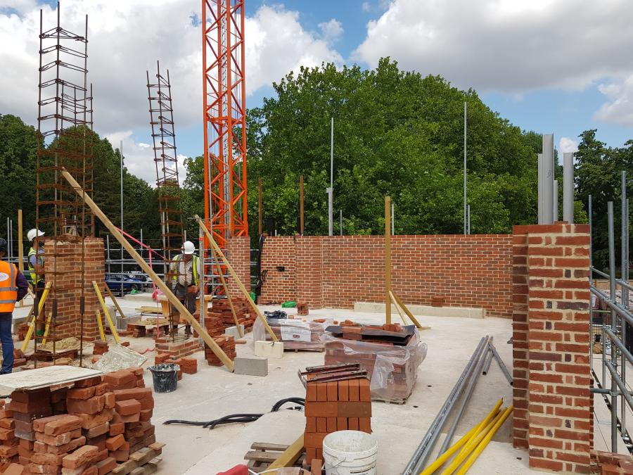 Magdalene Library Build August 2019 First Floor Brickwork 7