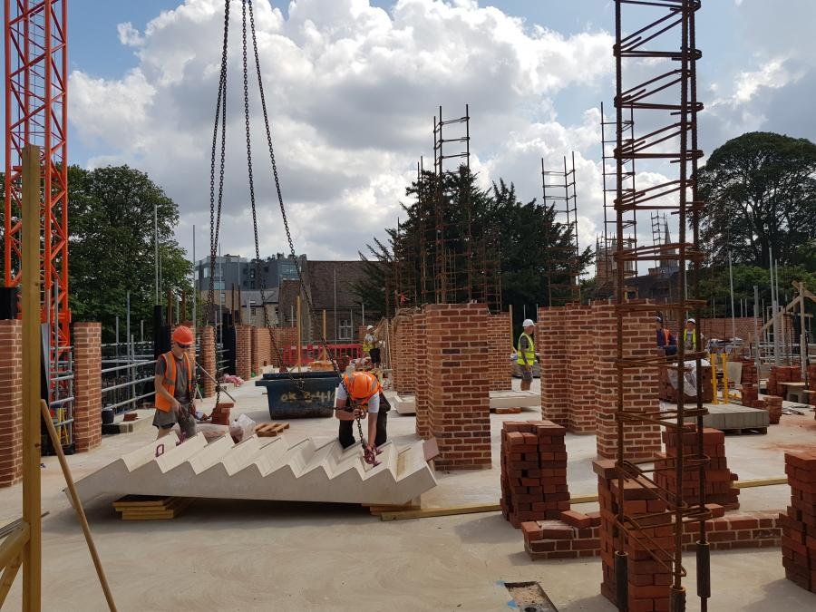 Magdalene Library Build August 2019 First Floor Brickwork 9