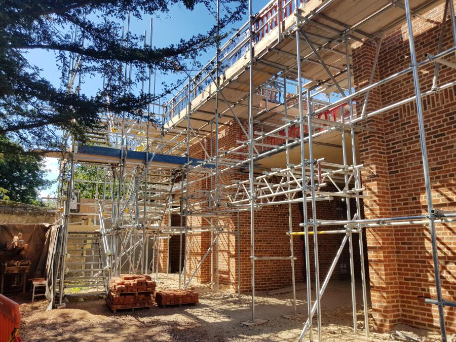 Magdalene Library Build September 2019 Moving up to second floor