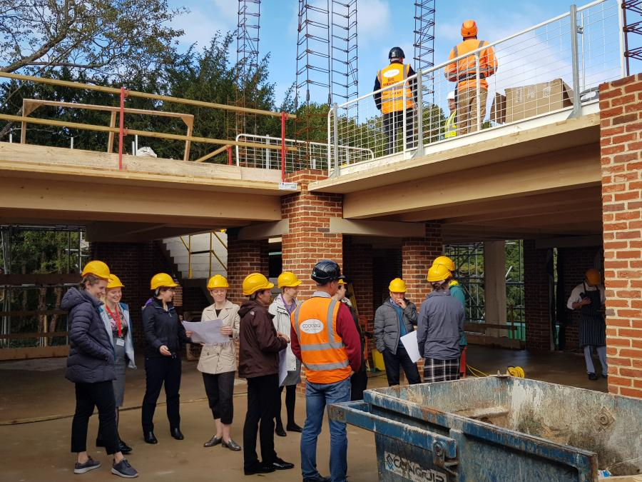 Magdalene Library Build October 2019 Staff Tour