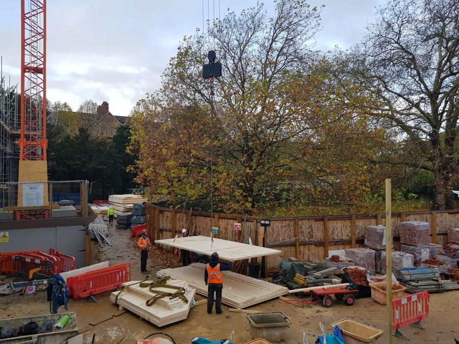 Magdalene Library Build November 2019 Roof Construction