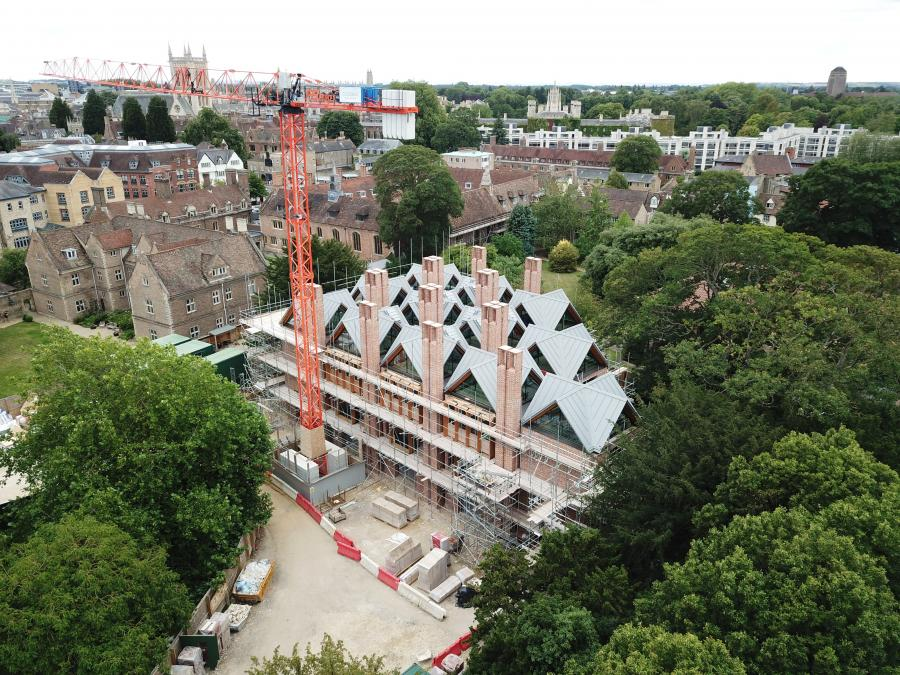 Magdalene Library Build August 2020 Drone Photography